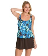 Maxine Tonal Leaf Faux Swim Dress
