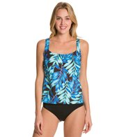 Maxine Tonal Leaf Scoop Tankini Top