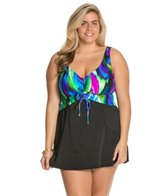 Maxine Plus Wave Ride Shirred Front Swimdress