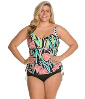 Maxine Plus Linear Flower Underwire Tankini Top
