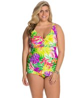 Maxine Plus Hawaii Vibe Surplus Sheath One Piece