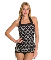 24th & Ocean Day Trip Shirred Halter Tankini Top