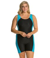Waterpro Polyester Splice Plus Size Unitard