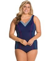 Sunmarin Flora Plus Size One Piece