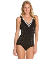 Sunmarin Basics V Neck One Piece