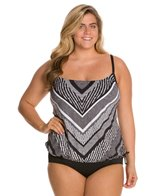 24th & Ocean Plus Size Rio Blouson Tankini Top