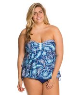 24th & Ocean Plus Size Belize Me Triple Tier Top