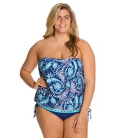 24th & Ocean Plus Size Belize Me Tankini Top