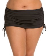 24th & Ocean Plus Size Solid Rouched Skirted Bottom