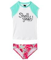 Billabong Girls' Shell Ya S/S Rashguard Set (4-14)
