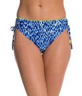 Beach Diva Global Dance Side Adjustable High Waist Bikini Bottom
