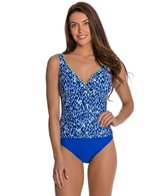 Global Dance Shirred Surplice One Piece Swimsuit