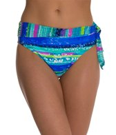 Beach Diva Electric Feel Mesh Banded High Waist Bikini Bottom