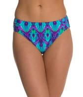 Beach Diva Diamond Days Side Shirred High Waist Bikini Bottom