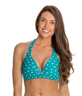 Beach Diva Swimwear Hot Dot Molded Halter Bikini Top