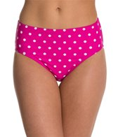 Beach Diva Hot Dot Classic High Waist Bikini Bottom