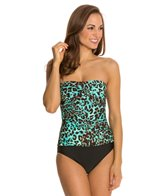 Beach Diva Cat Call Twist Bandeau One Piece Swimsuit