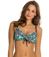 Beach Diva Paisley Passion Underwire Bra Bikini Top