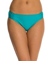 Beach Diva Solid Shirred Hipster Bikini Bottom