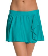 Beach Diva Solid Flounce Swim Skirtini