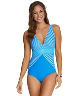Maidenform Beach Twin Stripes One Piece Swimsuit