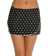 Maidenform Swimwear Beach Hot Dot Swim Skirtini Bikini Bottom