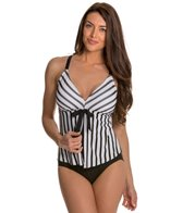 Maidenform Beach Mesh Stripe One Piece Swimsuit