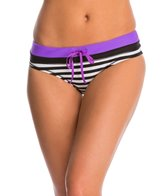 Reebok Sano Kerry Striped Contrast Waist Sport Brief