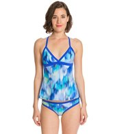 Reebok Watercolor Chloe Apron Back Tankini Top