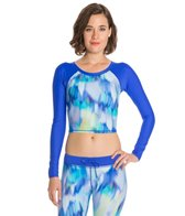 Reebok Watercolor Kiley Cropped Rashguard