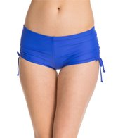 Reebok Olivia Solid Shirred Boyshort