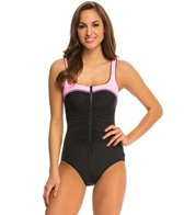 Reebok Fitness Zip Tide U-Back One Piece