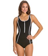 Speedo Fitness Front Zip One Piece