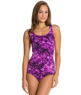 Speedo Fitness Print Contourback One Piece