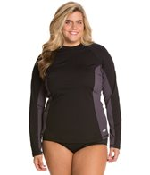 Speedo Women's Endurance L/S Plus Size Rashguard