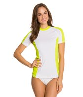 Speedo Women's Zip Pocket S/S Rashguard