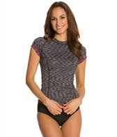Speedo Fitness Space Dye Cap Sleeve Rashguard
