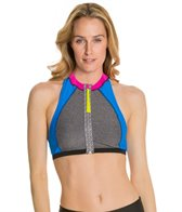 Speedo Heather Zip Front Halter Top