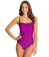 Speedo Keyhole Bandeau One Piece