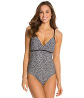 Speedo Print Front Wrap One Piece