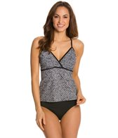 Speedo Bead Batik Wrap Front Tankini Top