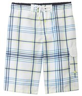 Speedo Men's Crosscut Plaid E-Board Short