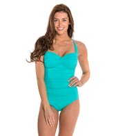 Seafolly Goddess Twist Halter Maillot One Piece Swimsuit