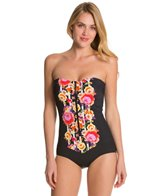 Seafolly Romeo Rose Zip Front Maillot One Piece Swimsuit