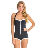 Seafolly Block Party Retro Maillot Piece Swimsuit