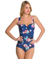 Seafolly Vintage Vacation D Cup Maillot One Piece Swimsuit