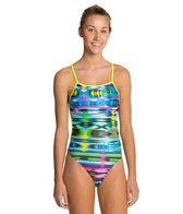 Speedo Flipturns Rainbow Weave Tie Back 1 Piece