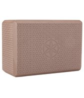 Gaiam Embossed Cocoa Yoga Block