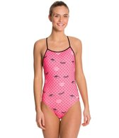 Speedo Flipturns Endurance Lite Eye See U Tie Back One Piece Swimsuit