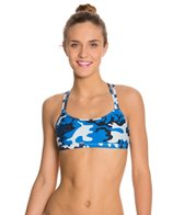 Sporti Modern Camo Double Cross Workout Bikini Top
